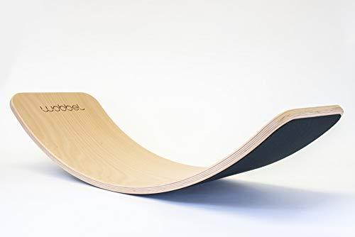 Wobbel Balanceboard transparent lackiert Filz schwarz yogaboard