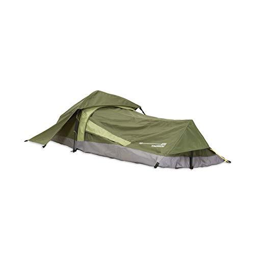 Lumaland Where Tomorrow Solo-Zelt Pop Up Wurfzelt 1-Personen-Zelt - Rechteck - 220x80x50 cm - Camping...