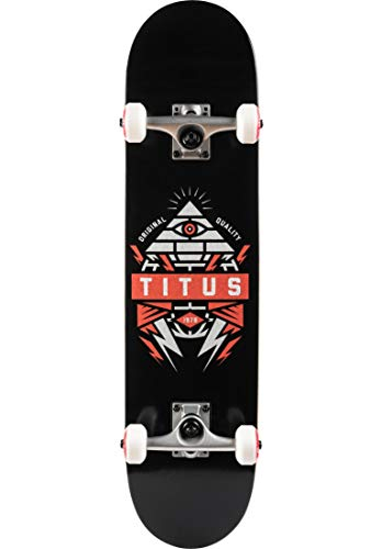 TITUS Skateboards-Complete Pyramid, Black-orange, 7.625, Komplett Board, 7 Schichten Ahornholz, bereits...