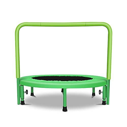 Mini-Trampolin für Kinder Tragbares Kindertrampolin mit verstellbarem Handlauf und gepolsterter...