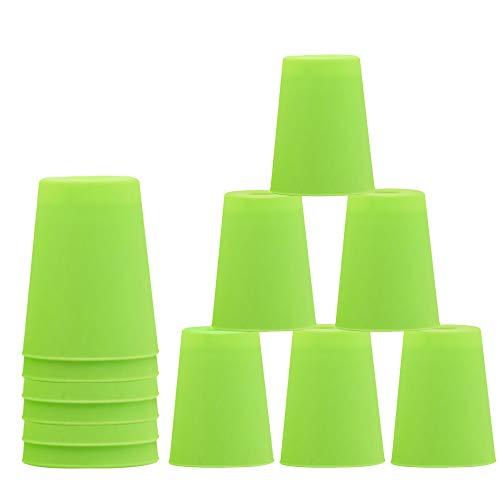 ZoneYan 12 Stück Sport Stapelbecher, Sport Stacking, Quick Stacks Cups, Becher Stapeln Kinder, Stapeln...
