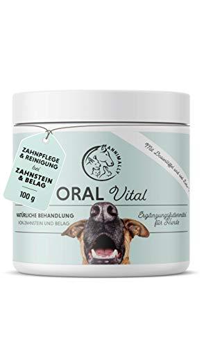 Annimally Zahnpflege Pulver für Hunde I Mittel gegen Zahnstein Hund - Natürliche besonders effektive...