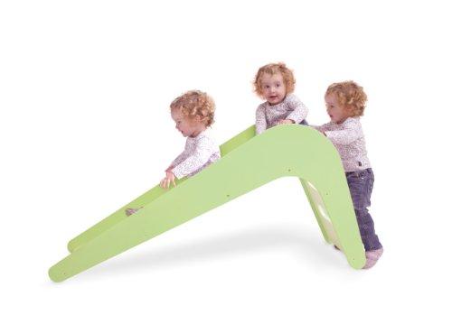 Jupiduu - Die schöne Design Kinderrutsche aus Holz, 100% Made in Germany (grün)