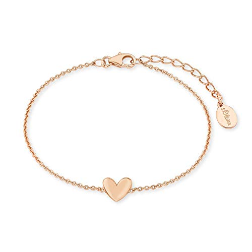 s.Oliver Armkette für Damen, Sterling Silber 925, Herz
