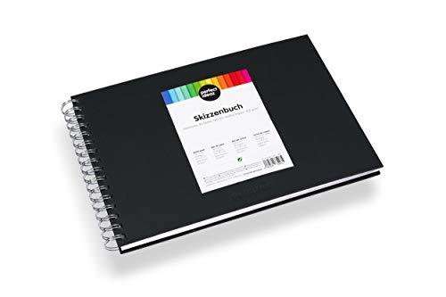 perfect ideaz DIN-A4 Skizzen-Buch 96 Seiten (48 Blatt), professioneller Zeichen-Block, Hard-Cover in...