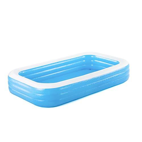 Bestway Bestway Family Pool Deluxe, Pool rechteckig für Kinder, leicht aufbaubar, blau, 305x183x56 cm...