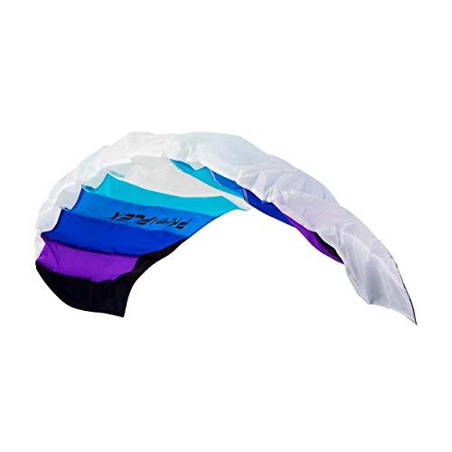 Wolkenstürmer® Paraflex Basic 2-Leiner Lenkmatte 1.2 blau - Kite Drachen mit Flugschlaufen –...