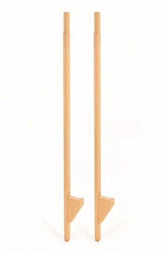 FLIXI verstellbare Stelzen aus Holz - für Kinder und Erwachsene - Buchenholz - hoch - 160 cm