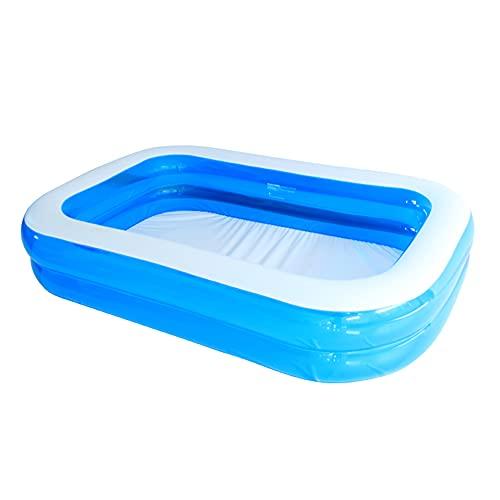 Family Pool Pool rechteckig für Kinder Aufblasbarer Familienpool Planschbecken für Kinder geeignet für...