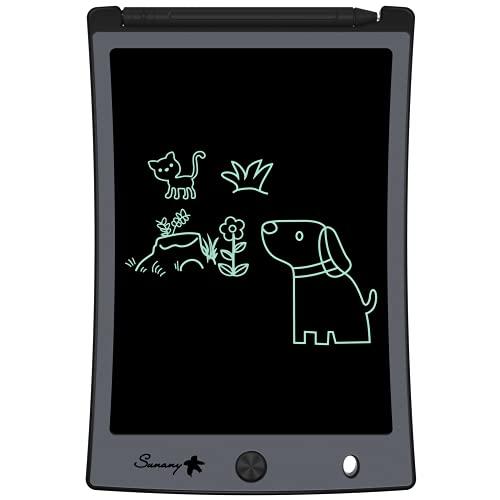 Sunany LCD Schreibtafel 8.5 Zoll,Licht Zeichentafel für Kinder,Löschbarer Funktion Elektronische...