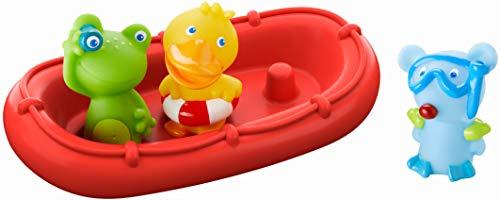HABA - 303866 - Badeboot Tiermatrosen ahoi! | Badespielzeug mit Boot, Frosch, Ente und Maus | Set aus...
