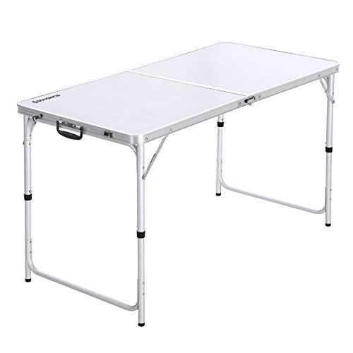 SONGMICS Campingtisch, Klapptisch, 120 cm lang, Gartentisch mit stabilen Aluminium-Beinen,...