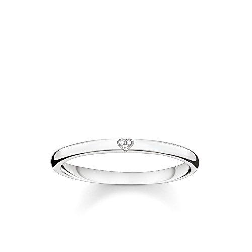 Thomas Sabo Damen-Ring Glam & Soul 925 Sterling Silber Diamant Pavè weiß Gr. 52 (16.6)...