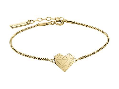 Liebeskind Berlin Damen Armband Herz Edelstahl Silber 20 cm (gold)