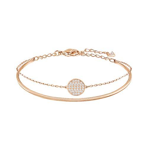 Swarovski Women's Ginger Bangle Bracelet, Stunning Rose-Gold Tone Bangle Bracelet with Crystals and...