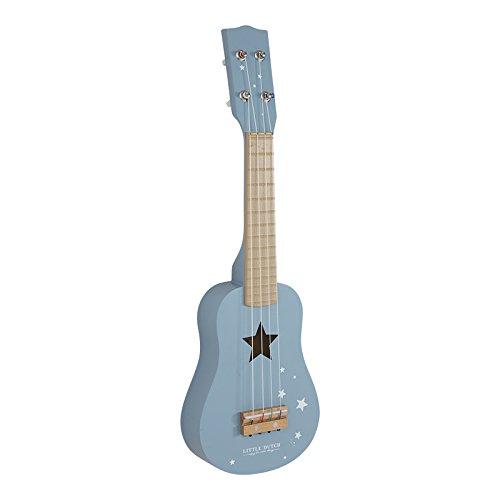 Little Dutch Kinder Gitarre Kindergitarre aus Holz (blau)