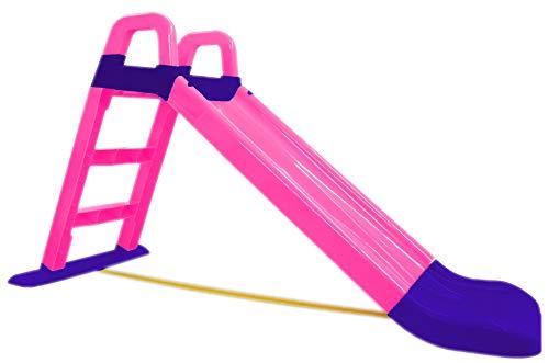 BUSDUGA Rutsche Pink - kompakete Kinderrutsche ab 18 Monate - robuster Kunststoff