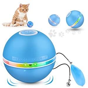 DazSpirit Katzenspielzeug Interaktives Katzenspielzeug Ball Elektrisch Katzenbälle Mit Led-Licht,...