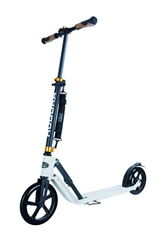 HUDORA Unisex Style 230-Tret-Roller klappbar-Big Wheel City-Scooter, weiß