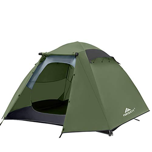 Forceatt Zelt 4 Personen Camping Wasserdicht 3-4 Saison,Ultraleicht Zelte Mit Kleinem Packmaß,...