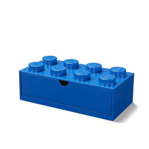 Room Copenhagen LEGO Schreibtischschublade mit 8 Knöpfen, stapelbar, blau, groß, 40211731