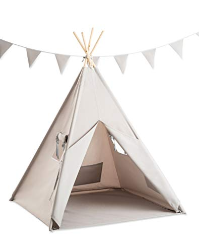 Cozydots - Tipi Zelt für Kinder, Kinderzelt - Wasserdicht Set Indianerzelt für Kinder Outdoor und...