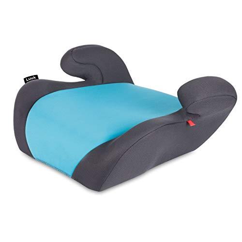 Lionelo Luuk Kindersitzerhöhung 15-36 kg, Kindersitz mit BeltHold System (Türkis)