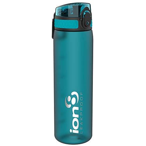 Ion8 Auslaufsichere Schlanke Trinkflasche, BPA-frei, Türkis