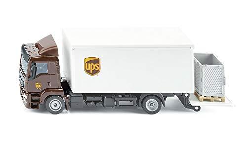 siku 1997, MAN LKW mit Kofferaufbau und Ladebordwand, 1:50, Metall/Kunststoff, UPS-Design, Absenkbare...