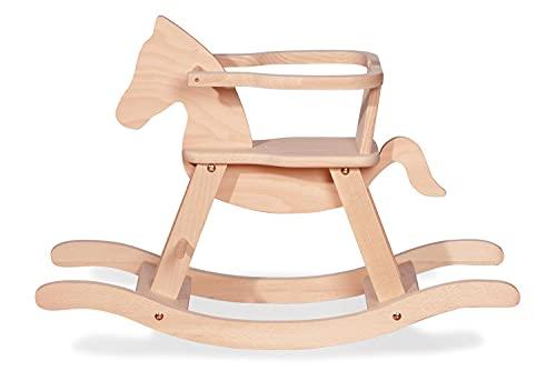 Schaukelpferd Pinolino mit Ring, aus massivem Holz, Ring abnehmbar, Umbausatz enthalten, für Kinder ab 9...