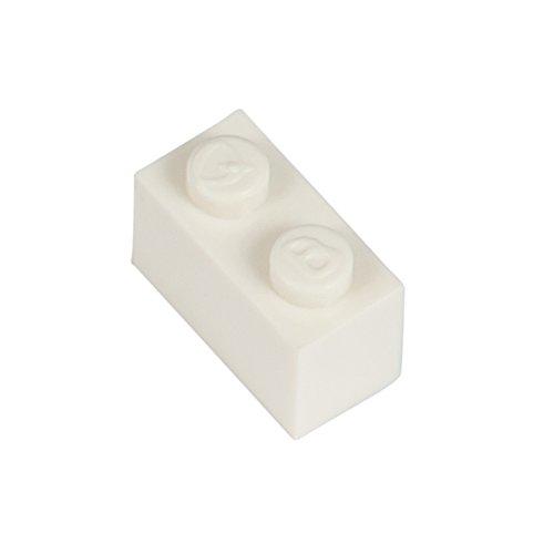 Q-Bricks Beutel 500Stck. Bausteine 1x2 Reinweiss 713