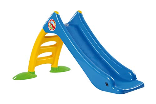 thorberg Rutsche Kinderrutsche + Frisbee, Wasseranschluss 120cm Rutschbahn (EU Ware) blau