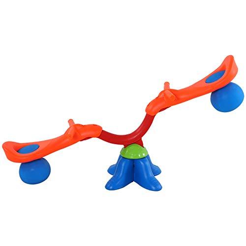 HOMCOM Kinder Gartenwippe 360° drehbare Wippe Karussellwippe für 3-8 Jahre Kunststoff Mehrfarbig 126 x...