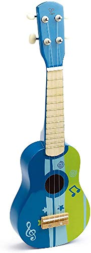 Hape E0317, Kinder-Ukulele aus Holz, blau, Blue