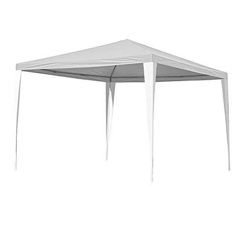 Hengda Pavillon 3x3m Wasserdicht weiß UV-Schutz Gartenzelt Partyzelt ohne Seitenteilein für Grillen...