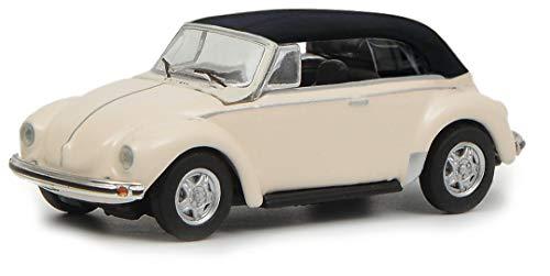 Schuco 452633500 VW Käfer Cabrio, mit Soft Top, Modellauto, 1:87, weiß