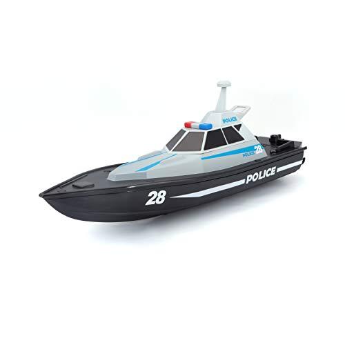 Bauer Spielwaren M82196 Tech R/C Polizeiboot: Ferngesteuertes Spielzeugboot im Polizei-Look, 35 Meter...