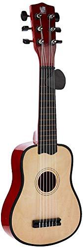 Concerto 701201P Gitarre 55 cm mit Plektrum, Kindergitarre aus Holz, Musikinstrument für Anfänger,...