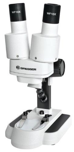 Bresser junior Stereo 3D Mikroskop mit 20x Vergrößerung für Kinder und Erwachsene für die Beobachtung...