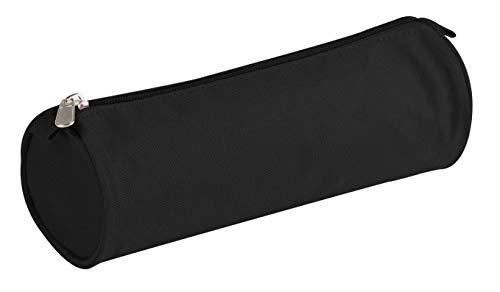 Clairefontaine 8113C Schlampermäppchen (Textil Basic, rund, Ø7 x 22cm) 1 Stück schwarz