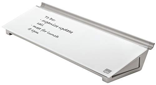 Nobo Glas-Whiteboard Desktop-Memoboard, Trocken Abwischbare Glas-Oberfläche, Tragbar, Rahmenlos, 458 x...