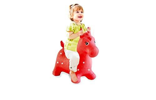 Jamara 460317 - Hüpftier Pferd rot mit Pumpe - fördert Gleichgewichtssinn und motorische Fähigkeiten,...
