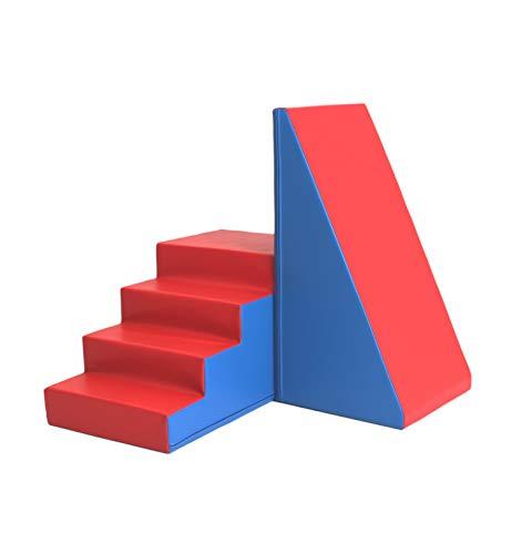 IGLU XXL Softbausteine Riesenbausteine Treppe und Rutsche - Blau Rot