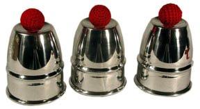ProTriXX Cups and Balls Aluminium, Becherspiel für Zauberkasten, Zaubertricks und Zauberartikel, Bälle...