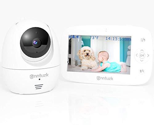 Babyphone mit Kamera, enntuzk 4,3 Zoll Video Baby Phone Monitor Camera mit Gegensprechfunktion, 300M Hohe...