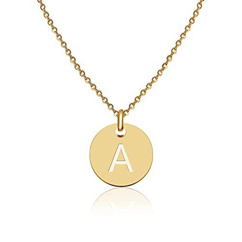 Good.Designs ® Initialen Halskette Frauen Mädchen mit Gravur A Alexandra Alice Alina Amelie Andrea...