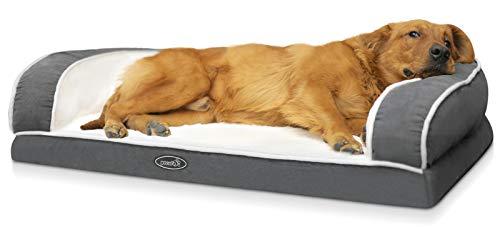 pecute Haustier Sofa (101x66x20cm), Orthopäisches Eck Hundebett, Couch Hundebett Hundekorb, Ergonomische...