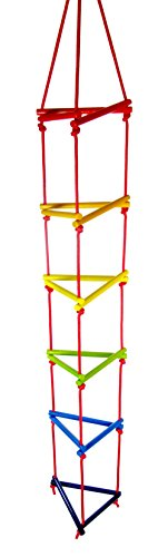 Hess Holzspielzeug 31107 - Strickleiter aus Holz, dreieckig, handgefertigt, für Kinder ab 3 Jahren, ca....