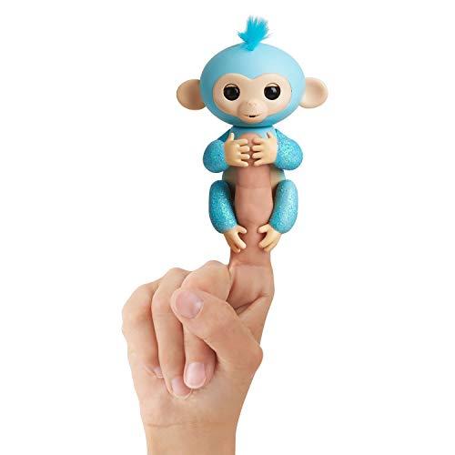 Fingerlings Glitzer Äffchen blau Amelia 3761 interaktives Spielzeug, reagiert auf Geräusche, Bewegungen...