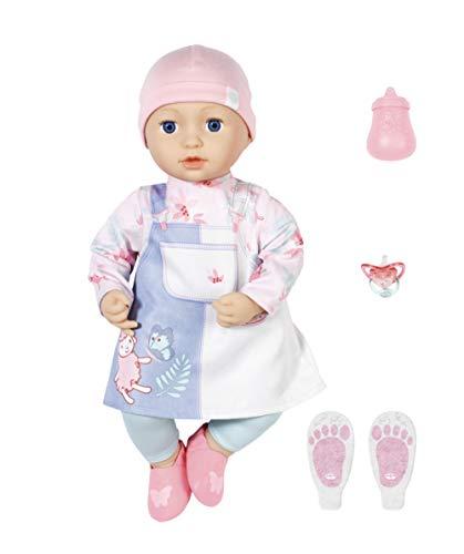 Zapf Creation 705940 Baby Annabell Mia 43 cm - weiche Puppe mit Schlafaugen mit Kleid, Leggings, Mütze...